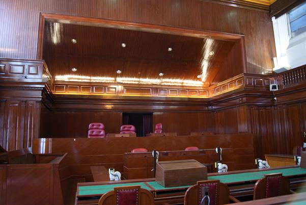 Bên trong tòa phúc thẩm Singapore, thuộc tòa nhà tòa tối cao cũ.