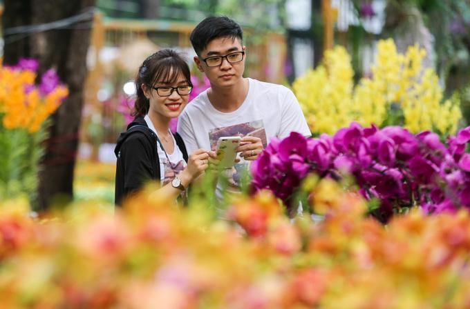 Lễ hội trưng bày 14.000 cây hoa lan ở Sài Gòn