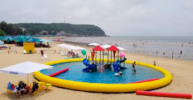 Khu 2, nơi được đánh giá đông khách nhất ở biển Đồ Sơn.