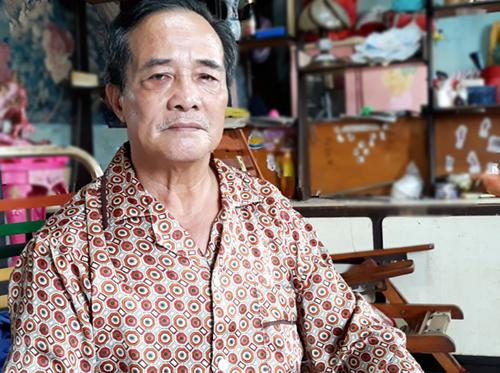 Ông Hưng sống tại căn nhà cũ ngay chợ Kim Biên. Ảnh:Hải Duyên.