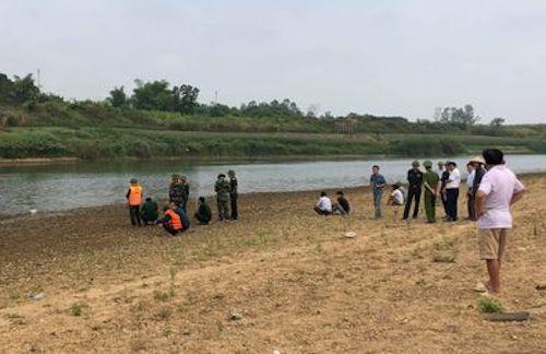 Sông Hiếu nơi xảy ra vụ đuối nước.
