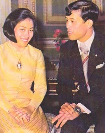 Nhà vuaVajiralongkorn và người vợ đầu Soamsawali Kitiyakara. Ảnh: Wordpress