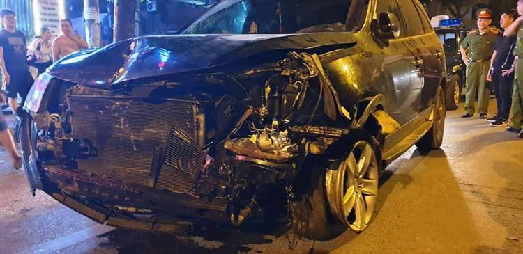 Lái xe uống rượu gây tai nạn khiến nữ công nhân môi trường tử vong ngày 22/4. Ảnh: Phương Sơn