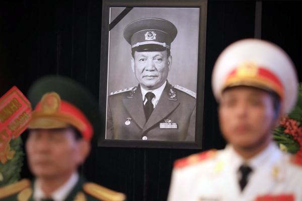 Lễ viếng Đại tướng Lê Đức Anh tại TP HCM sáng 3/5. Ảnh: Hữu Khoa.