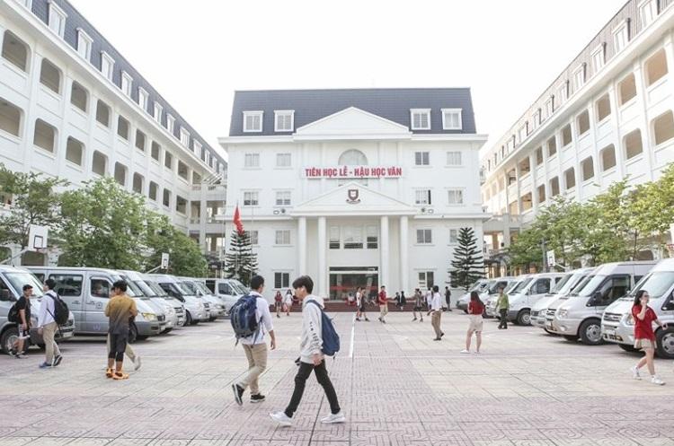 Khuôn viên trường THPT Khoa học giáo dục. Ảnh: FB/HES-Trường THPT Khoa học giáo dục
