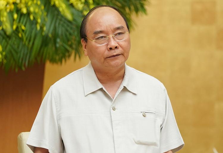 Thủ tướng Nguyễn Xuân Phúc phát biểu tại phiên họp Chính phủ. Ảnh: VGP.