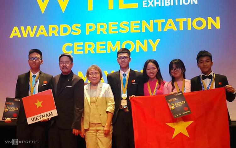 Học sinh Việt giành hai huy chương vàng quốc tế về sáng chế