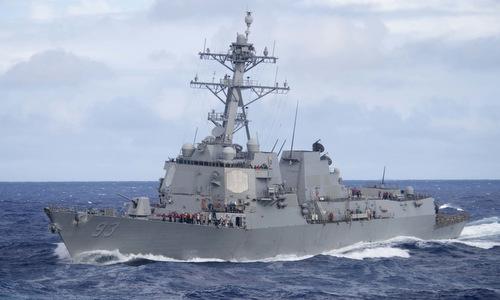 USS Chung Hoon di chuyển trên Thái Bình Dương đầu năm 2019. Ảnh: US Navy.