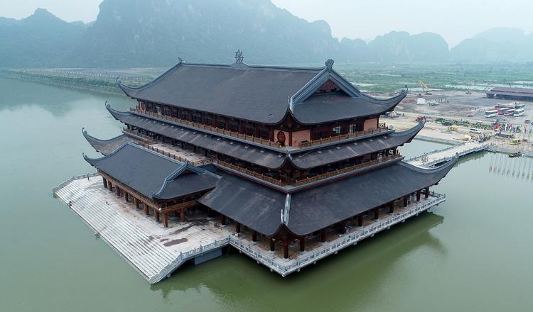 Trung tâm hội nghị quốc tế chùa Tam Chúc, nơi diễn ra Đại lễ Phật đản Vesak 2019. Ảnh: Giang Huy.