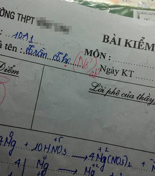 Suy đoán của giáo viên.