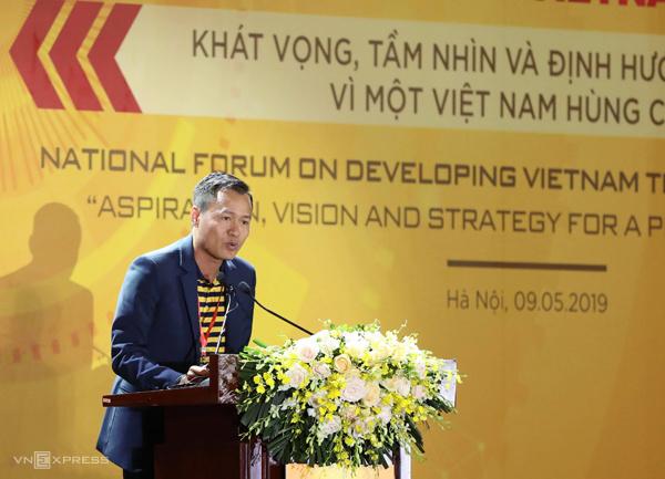 Tổng giám đốc Công ty Cổ phần Be Group Trần Thanh Hải chia sẻ tại Diễn đàn sáng 9/5