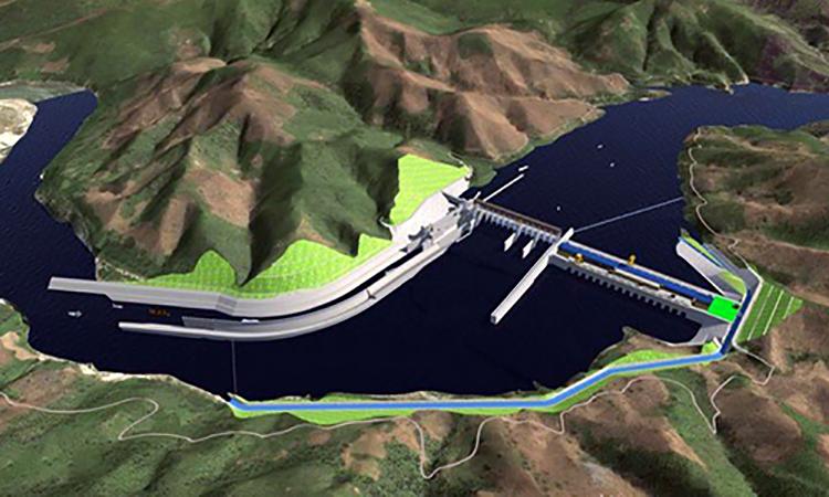 Đập thủy điện Pak Beng xây dựng trên dòng Mekong. Nguồn: Pak Beng Hydropower project.