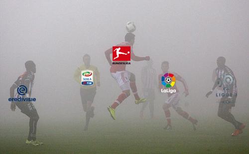 Một mùa bóng mà các giải vô địch quốc gia khác phải thi đấu dưới làn sương mù.