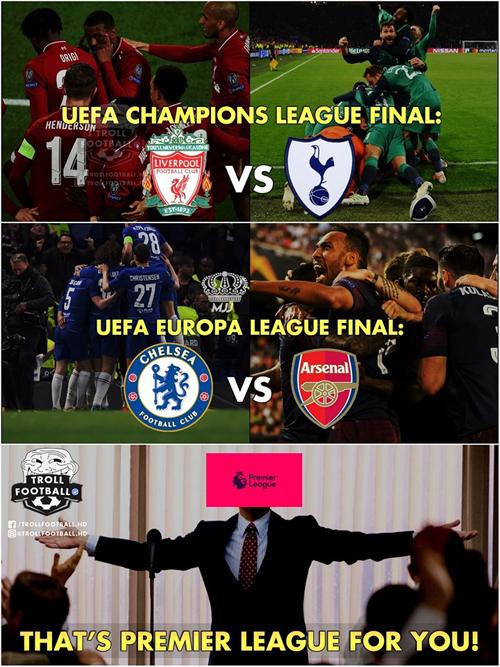 Và hai giải đấu danh giá nhất của Uefa đều là chuyện nội bộ của bóng đá Anh.