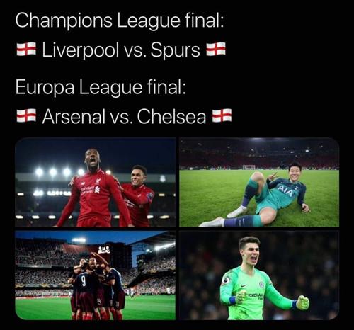 Bóng đá Anh thống trị trời Âu.