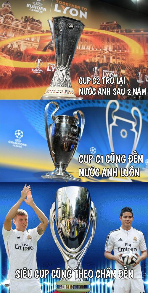 Mọi chiếc Cup đều tìm đến nước Anh.