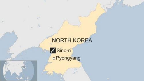 Vị trí căn cứ tên lửa Sino-ri. Đồ họa: BBC.