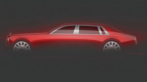 Bản thảo chiếc Phantom đặc biệt. Ảnh: Rolls-Royce.