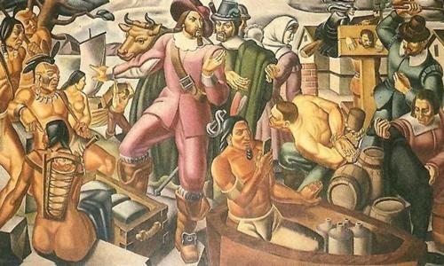 Bức tranh do họa sĩ Umberto Romano vẽ năm 1937. Ảnh: Sun.
