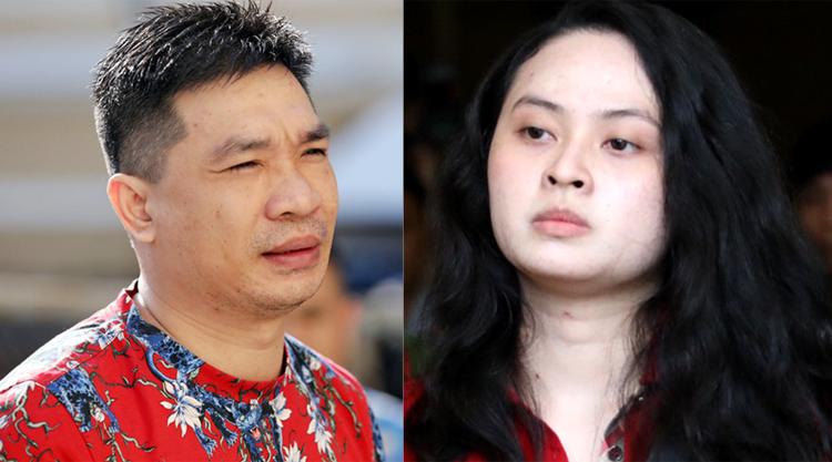 Văn Kính Dương và người tình Ngọc Miu ra tòa hôm 8/5. Ảnh: Thành Nguyễn.