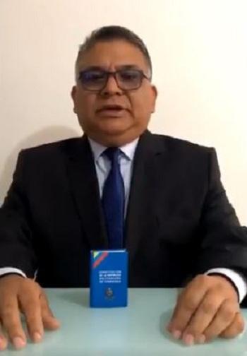 Ramon Rangel trong video kêu gọi các lực lượng vũ trang Venezuela nổi dậy. Ảnh: YouTube.