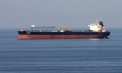 Tàu chở dầu hoạt động tại vịnh Oman năm 2018. Ảnh: AFP.