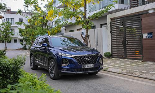 Santa Fe 2019 tăng doanh số trong tháng 4, đóng góp cho tăng trưởng của Hyundai Thành Công.