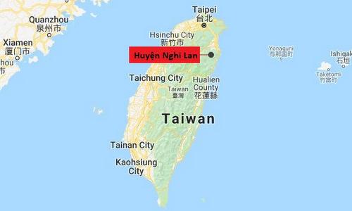 Vị trí huyện Nghi Lan trên đảo Đài Loan. Đồ họa: Google Maps.