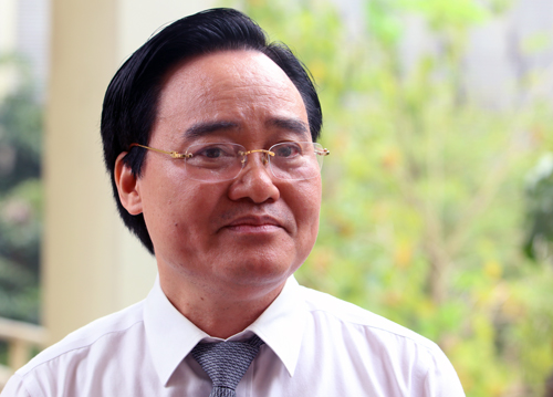Bộ trưởng Giáo dục và Đào tạo Phùng Xuân Nhạ. Ảnh: Võ Hải