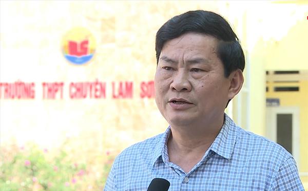 Ông Chu Anh Tuấn - Hiệu trưởng THPT chuyên Lam Sơn. Ảnh: Lam Sơn.