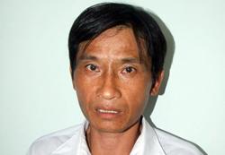 Phạm Văn Đèo tại cơ quan công an. Ảnh: An Nam.