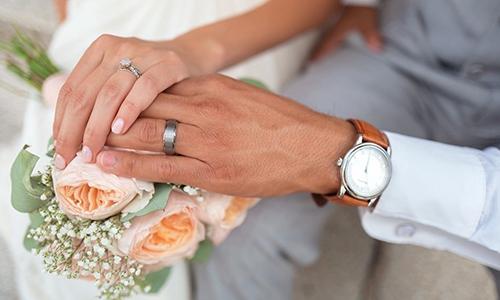 Cô dâu và chú rể trong một đám cưới. Ảnh: Pixabay