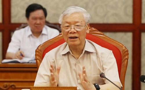Tổng Bí thư, Chủ tịch nước chủ trì họp Bộ Chính trị - Ảnh 1