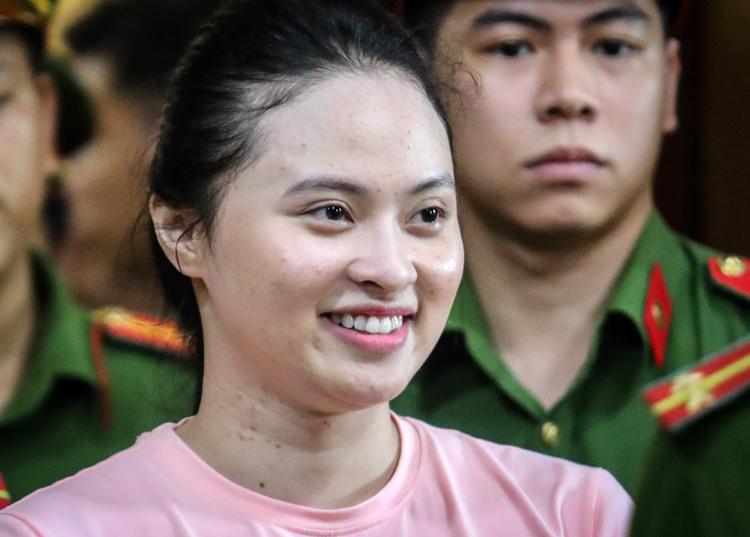 Ngọc Miu trong phiên tòa hôm 14/5. Ảnh: Thành Nguyễn.