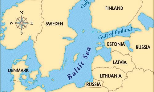 Vị trí Biển Baltic. Đồ họa: Wikimap.
