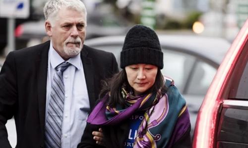 Mạnh Vãn Chu tại Vancouver ngày 12/12. Ảnh: AP.