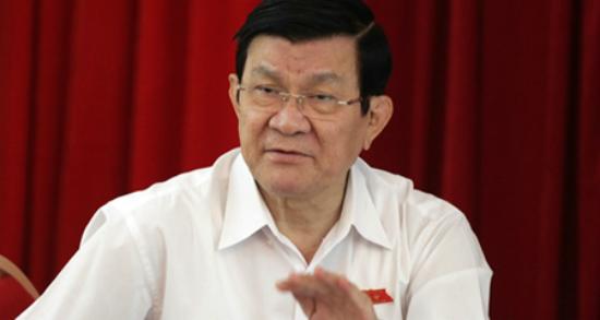 Nguyên Chủ tịch nước Trương Tấn Sang.