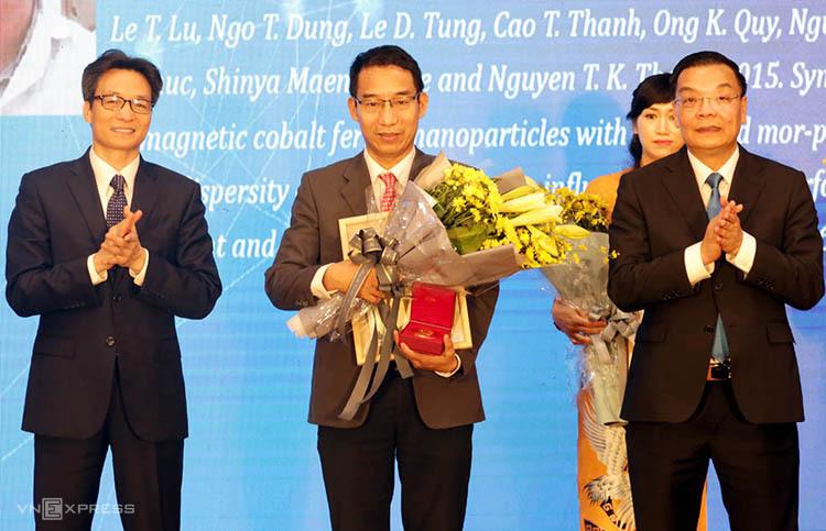 TS Lê Trọng Lư tại lễ vinh danh. Ảnh: Anh Tuấn.