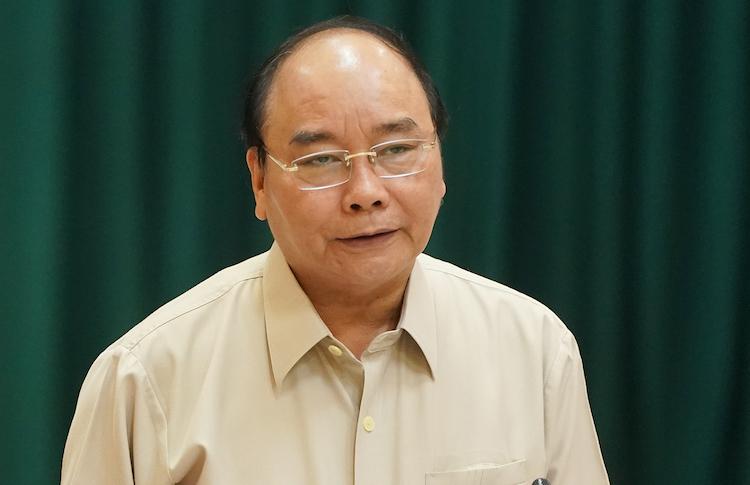 Thủ tướng Nguyễn Xuân Phúc phát biểu tại cuộc làm việc. Ảnh: Quang Hiếu