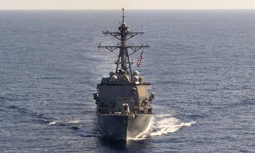 Tàu chiến Mỹ xuất hiện gần bãi cạn Scarborough ở Biển Đông