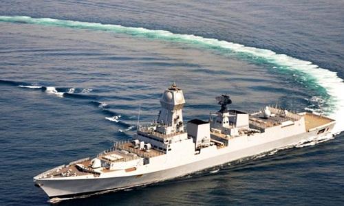 Khu trục hạm INS Kolkata của hải quân Ấn Độ. Ảnh: Hindustan Times.