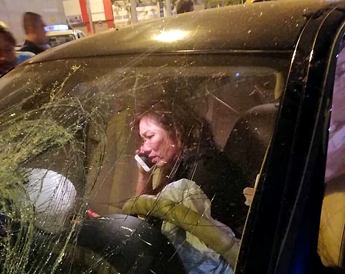 Nữ tài xế sau tai nạn hồi tháng 10 năm ngoái. Ảnh: CTV.