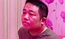 Huỳnh Văn Luân Em khi bị cảnh sát bắt. Ảnh: Công an cung cấp.