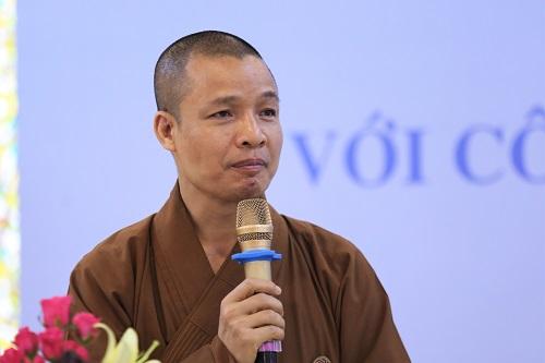 Thượng tọa Thích Minh Quang, Phó Chánh văn phòng Trung ương giáo hội Phật giáo Việt Nam. Ảnh: Gia Chính