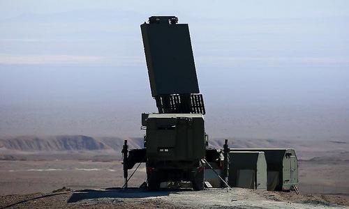 Đài radar cảnh giới của tổ hợp S-300 Iran hồi năm 2017. Ảnh: Twitter.