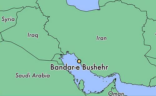 Vị trí tỉnh Bushehr của Iran. Đồ họa: World Atlas.