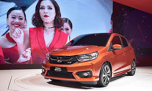 Honda Brio bản RS trưng bày tại triển lãm ôtô Việt Nam 2018.