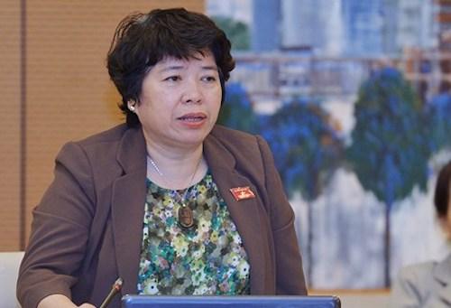 Chủ nhiệm Ủy ban về các vấn đề Xã hội Nguyễn Thúy Anh. Ảnh: Trung tâm báo chí Quốc hội