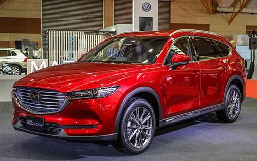 CX-8 trong lần trưng bày tại triển lãmMalaysia Autoshow, tháng 4/2019. Ảnh: Paultan