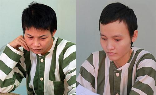 Nguyễn Ngọc Tâm Huyên (trái ) và Lê Ngọc Phương Thảo. Ảnh: Nguyệt Triều.
